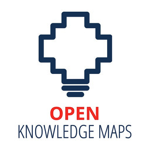 Hierdie beeld het 'n leë alt-kenmerk; sy lêernaam is Open_Knowledge_Maps_Logo.jpg