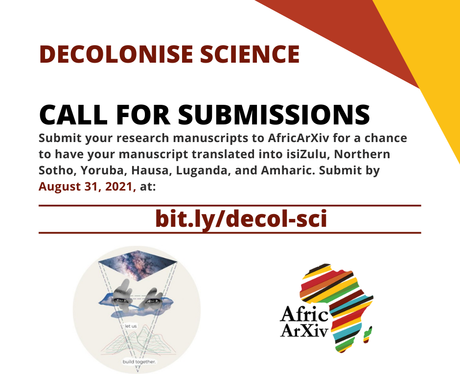 Decolonise Science, Call for submissions